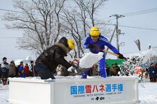 雪かきをスポーツ化・国際雪ハネ選手権に参戦!