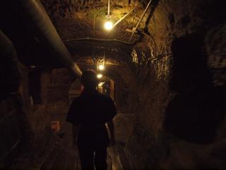 洞窟を進む