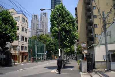 東京都庁が見えるような場所