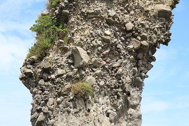 大量の石がくっついてる。