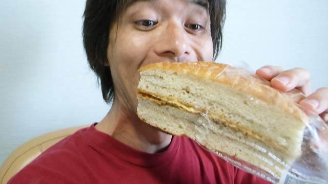 パンがでかい。