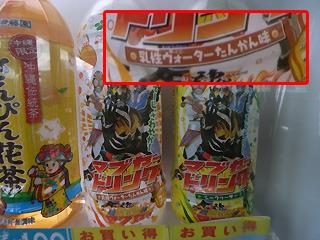 流行の琉神マブヤー飲料は「乳性ウォーターたんかん味」という県外の人からするとわけのわからない味付けだった。たんかんとは沖縄の柑橘類。うまい。