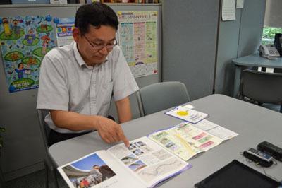 質問に答えて頂いたガイドウェイバスの松田さん