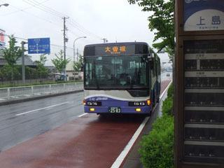 地上モードのガイドウェイバスも凛々しい(クリックで3D表示)