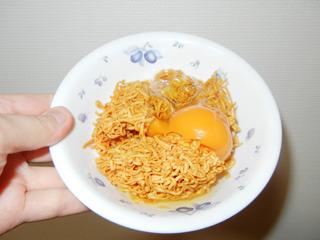 そして卵を乗せるだけ