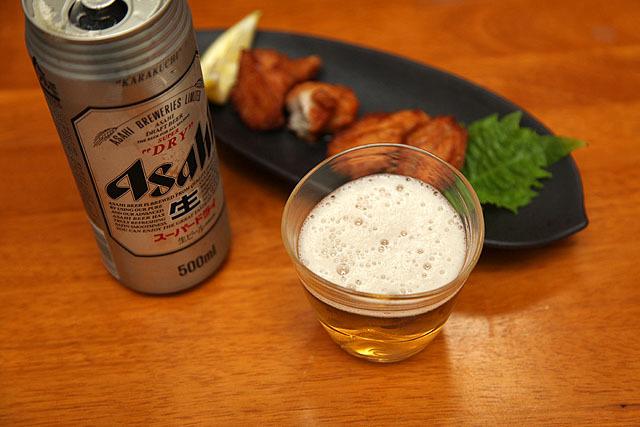日本の夏には日本のビールがよく合う。