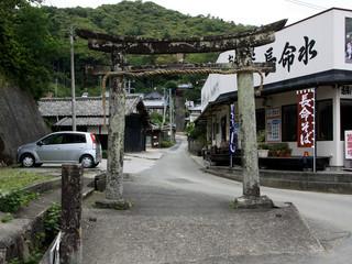 そして41番札所、龍光寺に到着(ここは元々神社が札所なので、参道入口に鳥居があります)