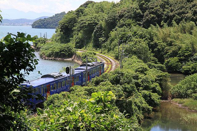 もう一寸待って、木陰から列車が顔を出したところを撮りたかった。。