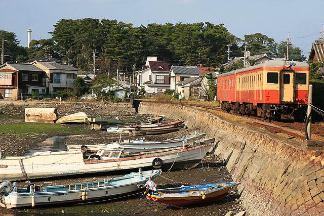 島原鉄道。(2007年11月撮影)