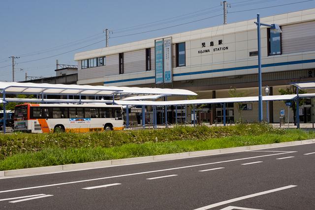 児島駅という駅からバスに乗る。