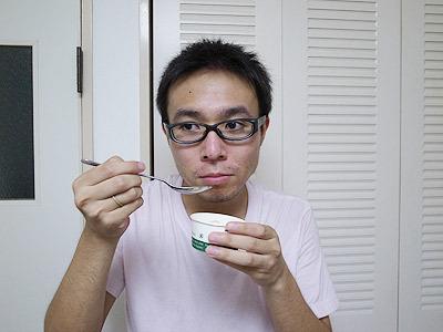 あ~豆腐だ、という表情