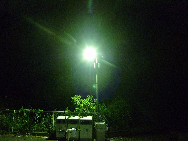 駐車場の照明も見逃せない