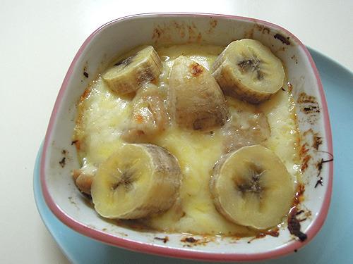 バナナ焼きます!まあおいしそう。