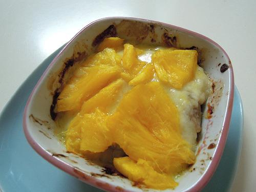 焼いて~。熟れた果物を焼くといちいちおいしそうなのだ。