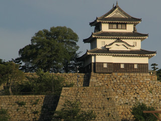 丸亀城の現存天守を横目に見つつ――