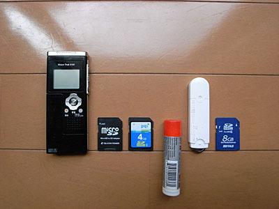 ボイスレコーダーと各種メモリ、それにリップスティックが発明された日の公倍数。