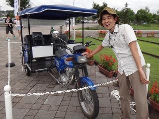日本に一台というアマゾンタクシーと