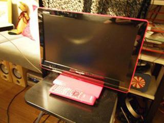 テレビもピンク