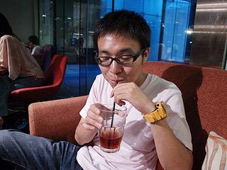 あとカフェで飲んだ「あずき茶」が美味しかった