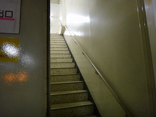 この間の階段を下から見上げたところ