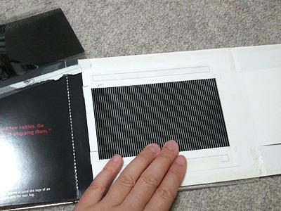 スリットシートは、透明ラベルに印刷して、ビニール袋に貼り付けて作った。もう適当。