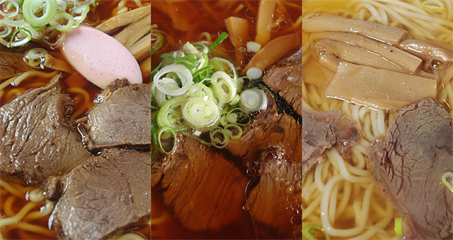 馬肉スープに馬肉チャーシュー。山形県長井市周辺にだけ存在する馬肉ラーメン。