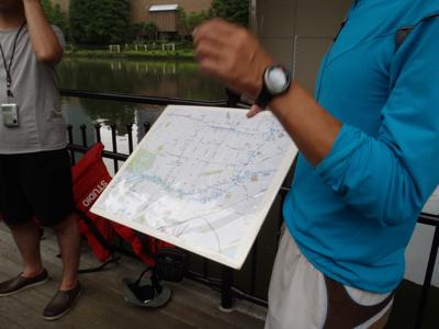 「水の回廊コースは全長11km。運河に入れば波もないので、慣れてるひとなら4時間くらいあれば一周できますよ」