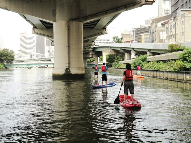 帰りは堂島川の流れに乗るようにしていれば、あっというま。