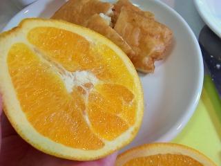 添えるのはオレンジと