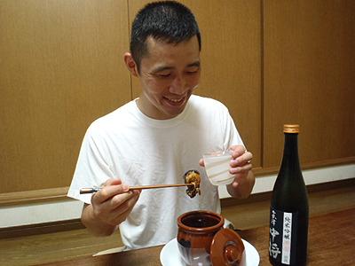 時間がかかるからまたやるかは悩むところだけどね。なにはともあれ、日本酒と合うわー。