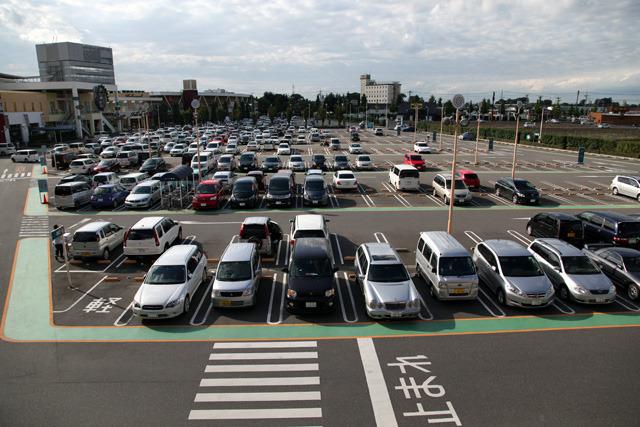 この眺めで超でかい駐車場を見たい