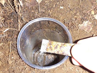 誘引剤を入れれば、ゴキブリホイホイ屋外仕様の完成。