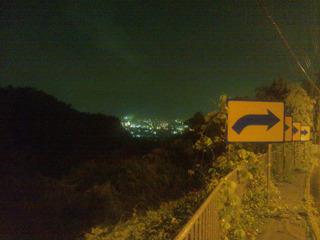 山科の夜景が見えた
