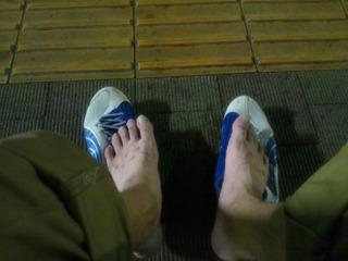 でも靴はぐしょぐしょ