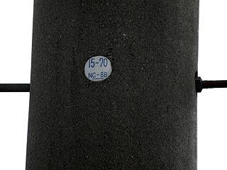 プリントじゃないのもある。細が取れて「15-70」。その下のNC-88については謎。