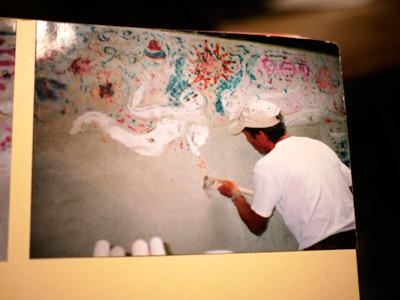 2008年にこうやって漆喰をはがして復元されたそうです。この作業も緊張したろうなぁ