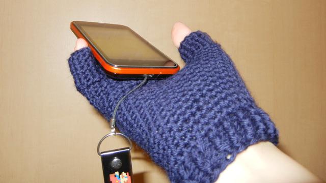 手袋とスマートフォン、一体化計画!