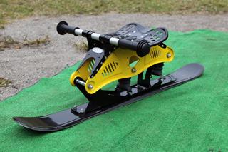 なんと冬は車輪をスキーに付け替えて雪の上を滑ることもできる!