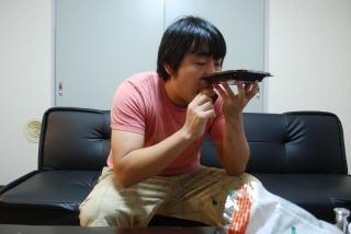ふがしを食べる