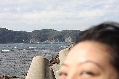 海撮ってたら入ってきた。