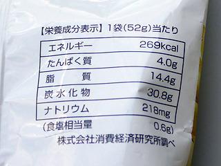 ファミマのは100gあたり517.3kcal