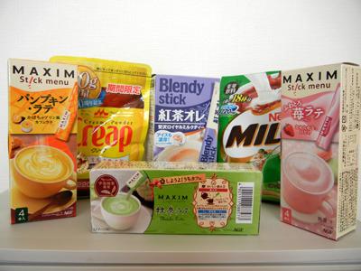 こげ茶(ミロ)、クリープ(白)、人間を描きたい場合の肌色(紅茶オレ)、あとはカラフルな赤・黄色・緑の信号カラーに代用できそうな色をチョイス