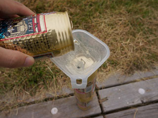 魅惑の黄金の液体を二缶分投入。