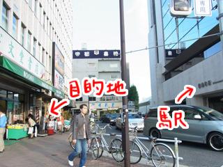 信濃町駅の改札出て右に進むとある