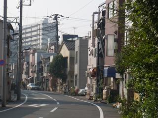 元川の道は新しい家が多い