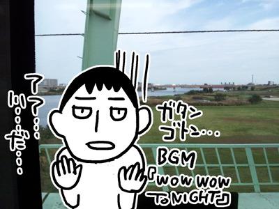 京浜東北線の車窓から観る荒川(川口、赤羽間)
