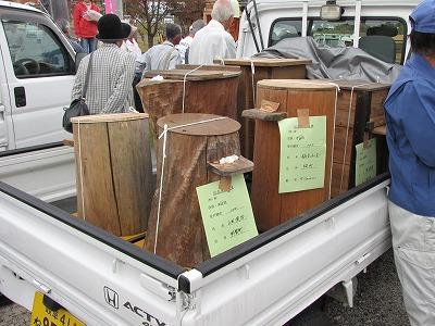 巣箱の形は出品者によって様々。