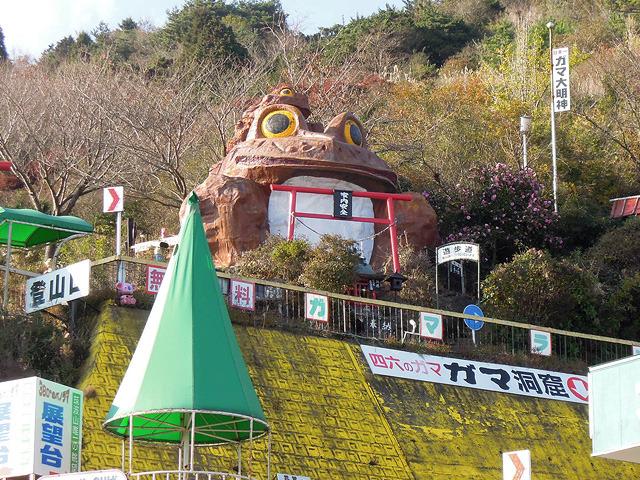 筑波山のシンボル、巨大ガマガエル
