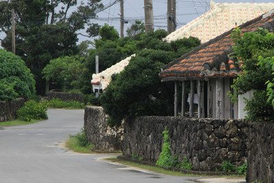 黒島中心集落の町並み