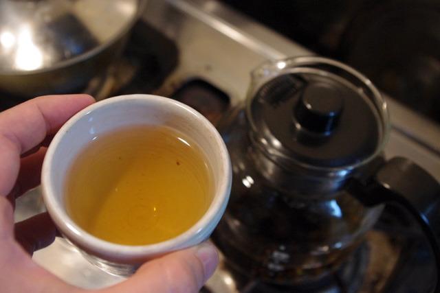完成! ジュズダマ茶!